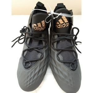 Adidas Size 11 NEW Black and Gold Footbal Cleats